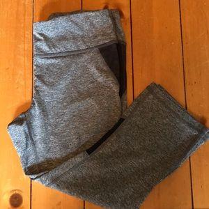 Pants - REEBOX- grey workout capris